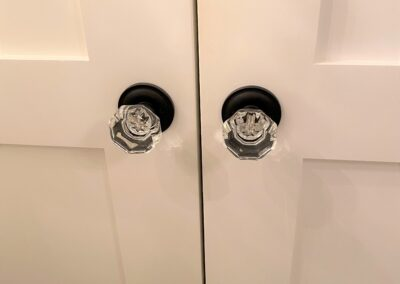 Glass door knobs