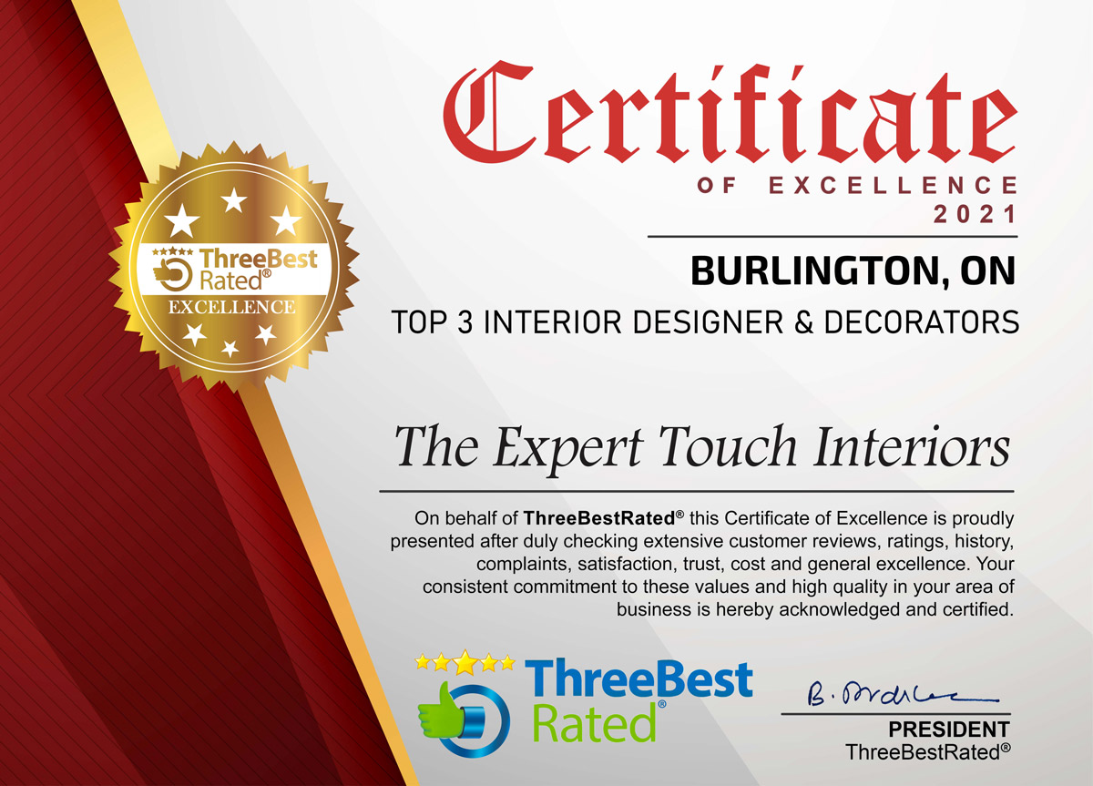 2020 Certificate of Excellence from Three Best Rated